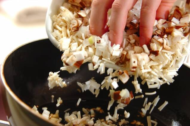 キノコたっぷりベジ麻婆豆腐の作り方の手順3
