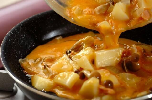 オムレツ・モヤシのカレー炒めの作り方の手順4