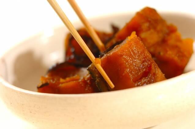 カボチャの塩昆布煮の作り方の手順3
