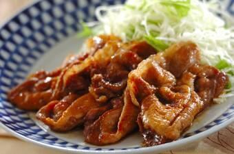濃厚なコク!豚肉のハチミツショウガ焼き