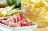 豚バラとキャベツのレモン鍋の下準備1