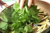 ほうれん草ニンニク炒めの作り方5