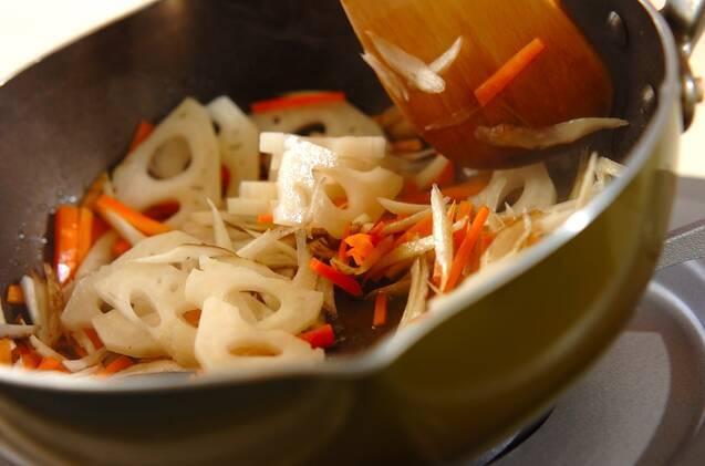 根菜の炊き込みごはんの作り方の手順6