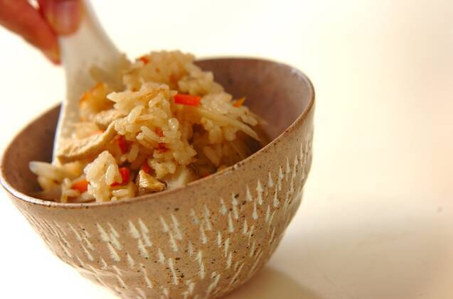 根菜の炊き込みごはんの作り方の手順10