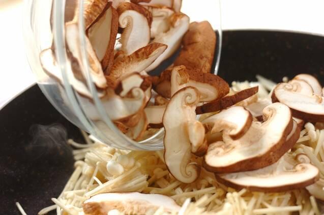 キノコのみそマヨ炒めの作り方の手順4