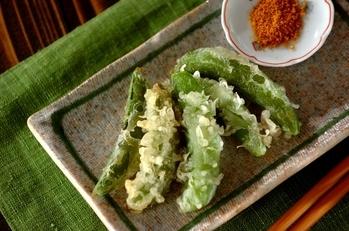 スナップエンドウの天ぷら