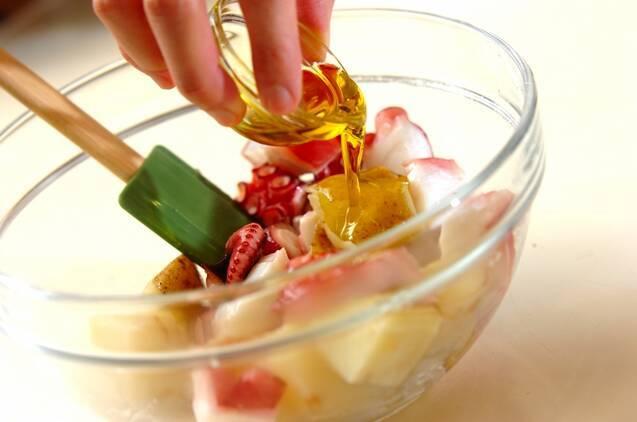タコとジャガイモのガリシア風の作り方の手順3
