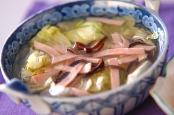 レタスと春雨のスープ