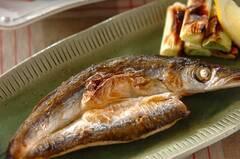 開き塩カマスのグリル焼き