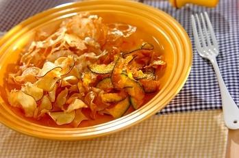 ココナッツオイルの野菜チップス