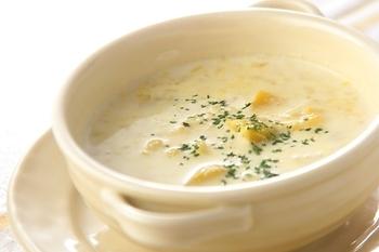 つぶつぶカボチャスープ