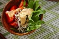 水菜のとろろドレッシングサラダ