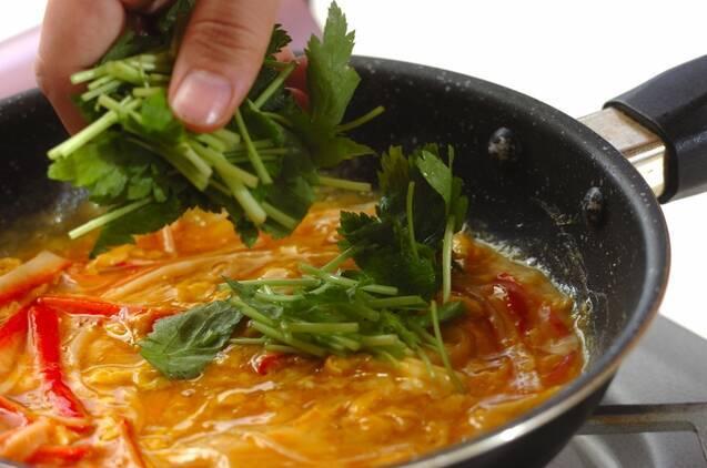 カニカマの卵炒めの作り方の手順3