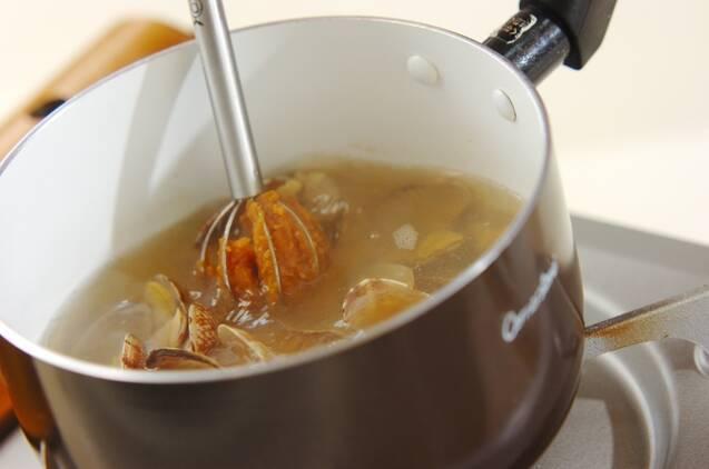 アサリのみそ汁の作り方の手順3