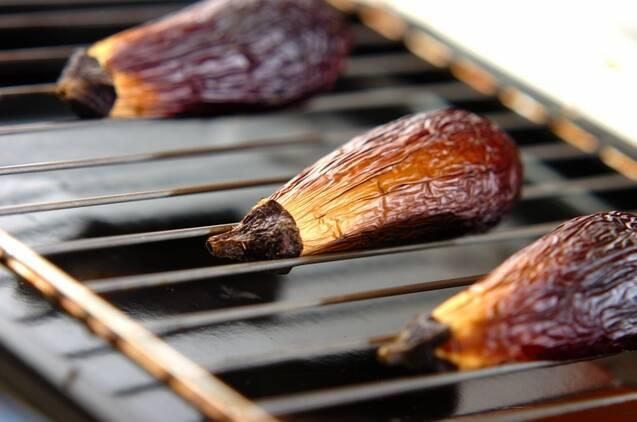 焼きナスナムルの作り方の手順3