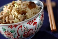 シメジと豚バラ肉の炊き込みご飯