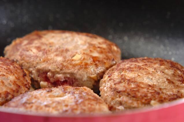 タケノコ入りおろしハンバーグの作り方の手順4