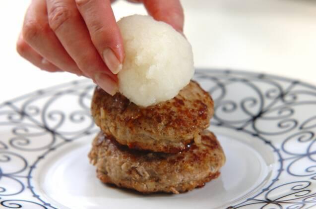 タケノコ入りおろしハンバーグの作り方の手順6