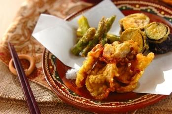 豚肉のカレー風味天ぷら