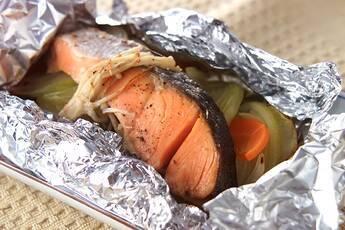 鮭のホイル焼き