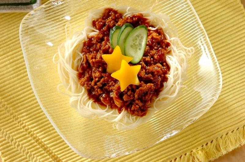 七夕のジャージャー素麺