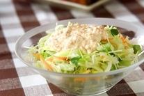 レタスの豆腐マヨドレ