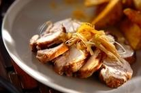 鶏もも肉の紅茶煮
