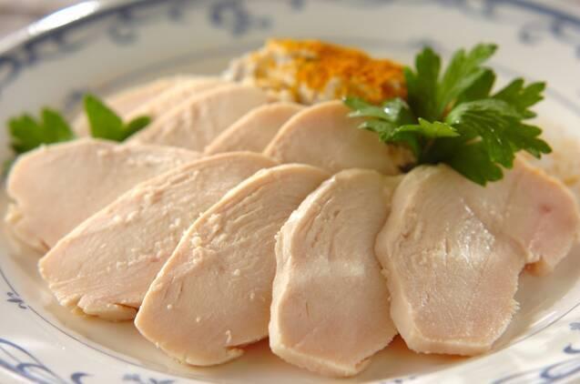 鶏ハムと里芋ピューレ