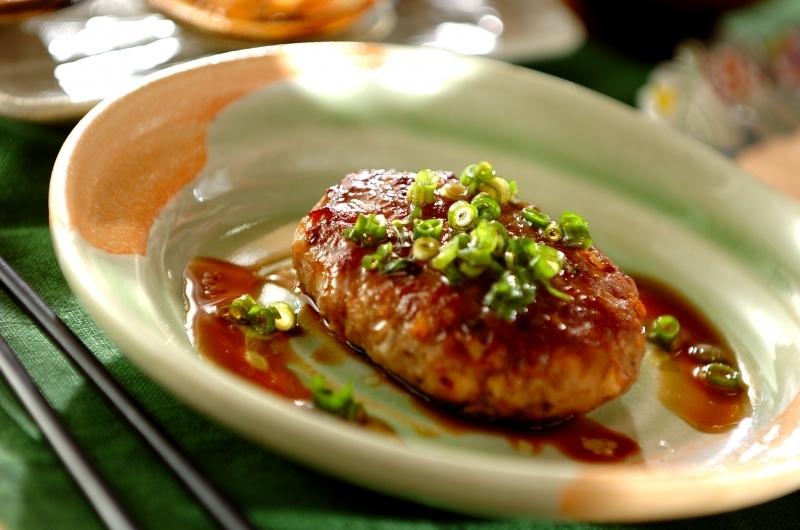 豚ひき肉で、食物繊維トリオの和風ハンバーグ