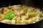 春キャベツのサッと煮落とし卵入りの作り方1