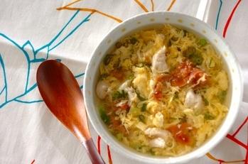 鶏ささ身の梅スープ