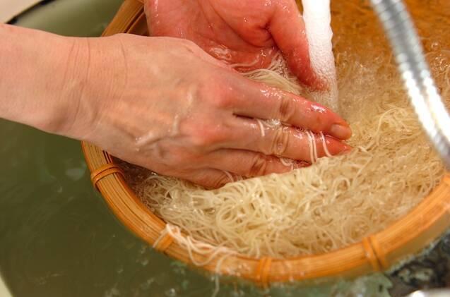 七夕のお絵かきジュレ素麺の作り方の手順4