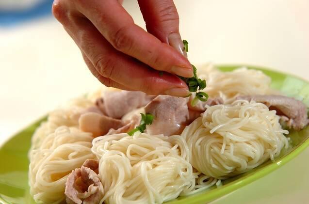 七夕のお絵かきジュレ素麺の作り方の手順8