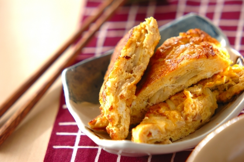ツナと玉ねぎの卵焼き