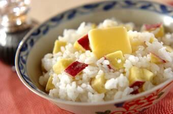 サツマイモのバターご飯