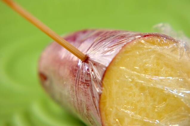 サツマイモのバターご飯の作り方の手順1