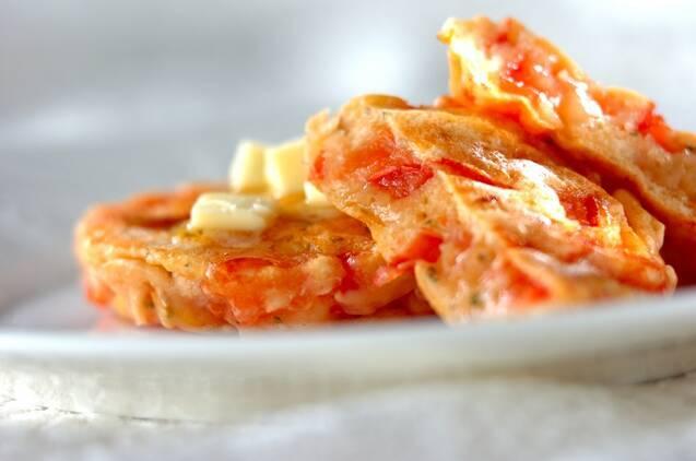トマトのホットケーキ