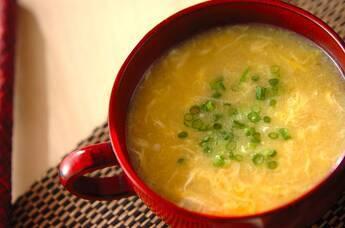 エノキのかき玉コーンスープ