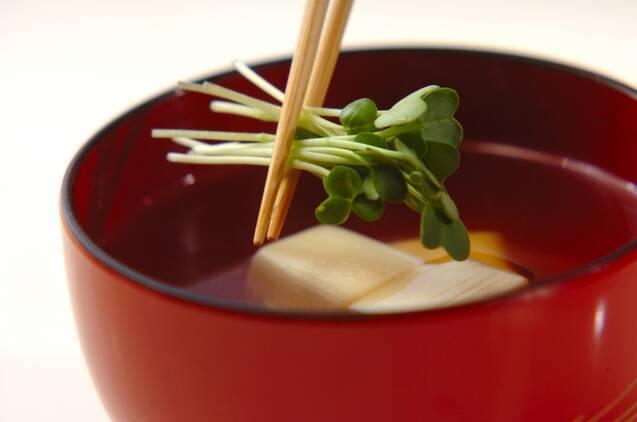 卵豆腐のすまし汁の作り方の手順2