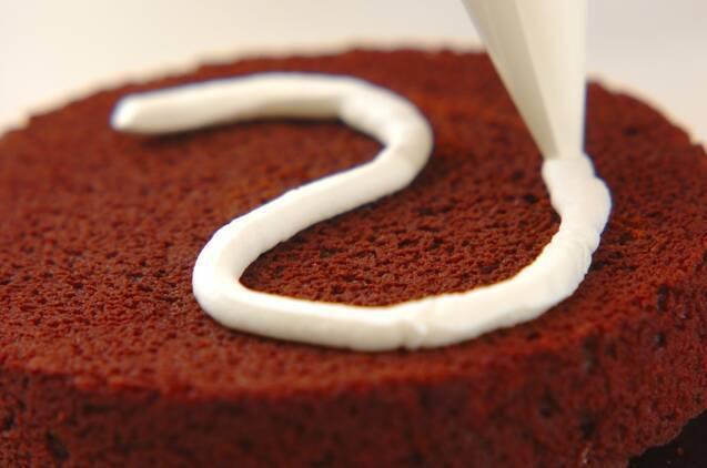 ハロウィンおばけのチョコレートケーキの作り方の手順6
