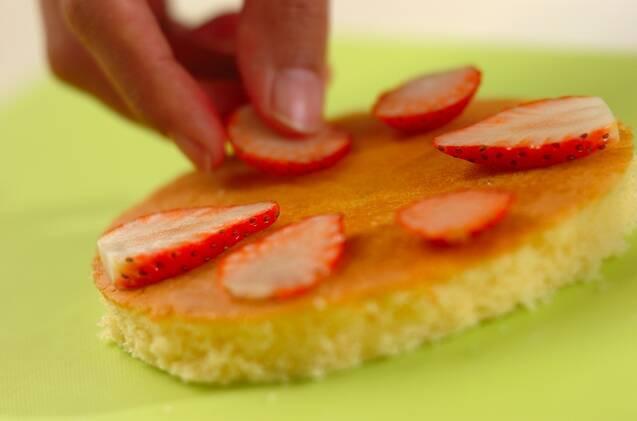 イチゴのドームケーキの作り方の手順5