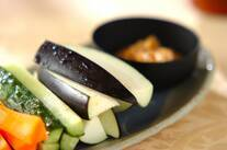 生野菜と薬味みそ