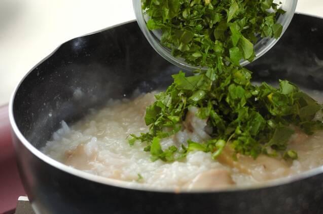 青菜入りサムゲタン風かゆの作り方の手順6