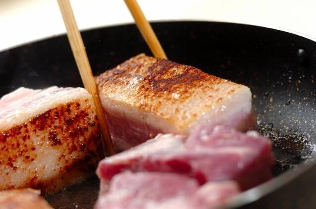 豚の甘酒角煮の作り方の手順2