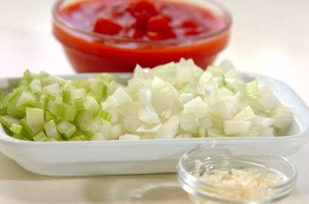 豚肉とヒヨコ豆のトマト煮込みの作り方の手順2