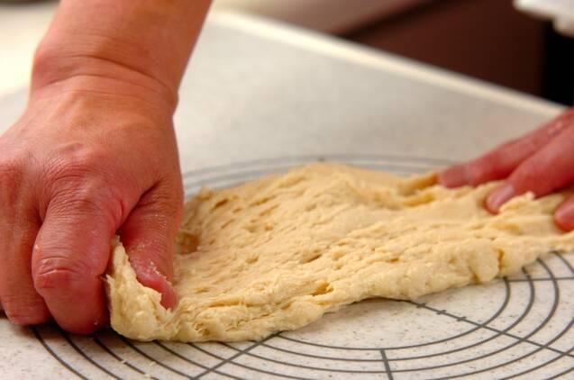 アップルシナモンロールパンの作り方の手順3