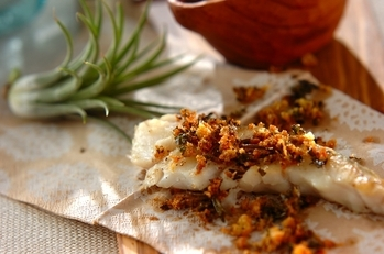 白身魚のソテー~香りパン粉のせ~