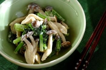 小松菜とシメジのマヨ和え