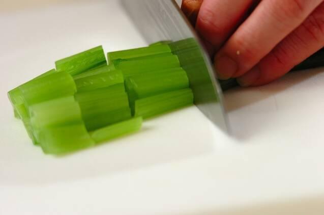 小松菜とシメジのマヨ和えの作り方の手順1