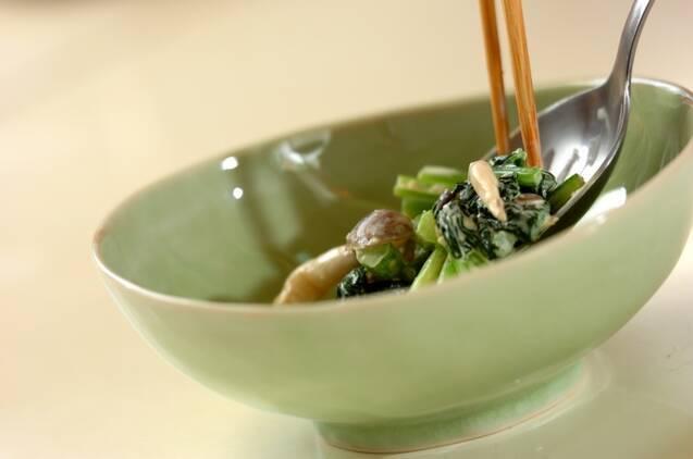 小松菜とシメジのマヨ和えの作り方の手順4